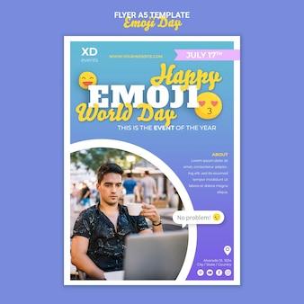Modèle de flyer de jour emoji