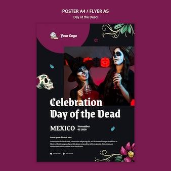 Modèle de flyer jour des morts