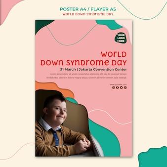 Modèle de flyer de jour de syndrome de down