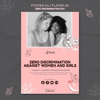Modèle de flyer de jour zéro discrimination