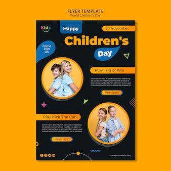 Modèle de flyer de la journée des enfants