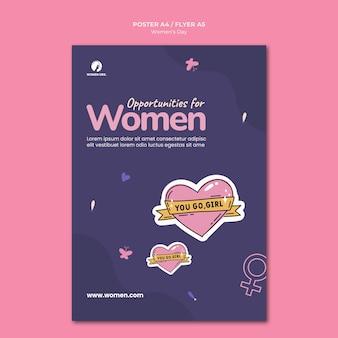Modèle de flyer de la journée de la femme illustré