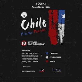Modèle de flyer de la journée internationale du chili
