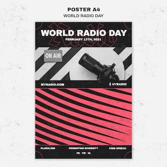 Modèle de flyer de la journée mondiale de la radio