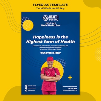 Modèle De Flyer De La Journée Mondiale De La Santé Psd gratuit