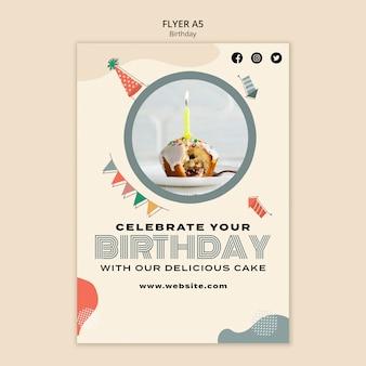 Modèle de flyer de joyeux anniversaire