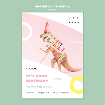 Modèle de flyer joyeux anniversaire
