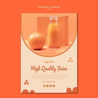 Modèle de flyer de jus d'orange
