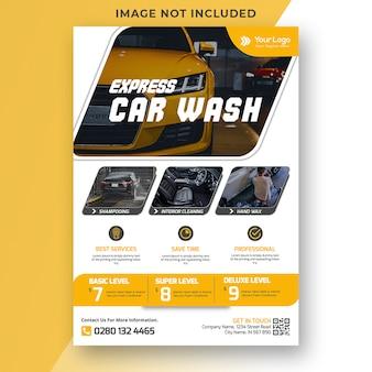 Modèle de flyer de lavage de voiture