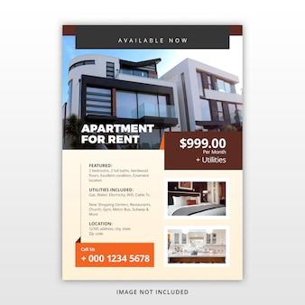 Modèle de flyer de location d'appartement