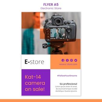 Modèle de flyer de magasin électronique