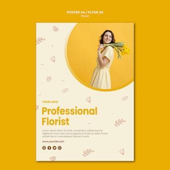 Modèle de flyer de magasin de fleuriste