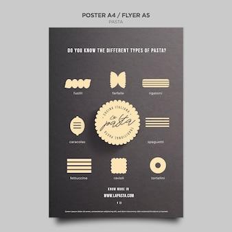 Modèle de flyer de magasin de pâtes