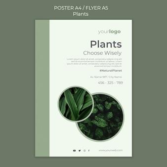 Modèle de flyer de magasin de plantes