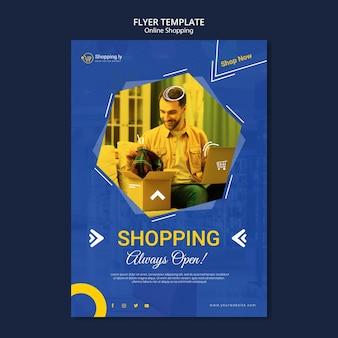 Modèle de flyer de magasinage en ligne