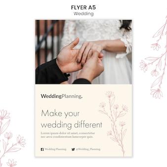 Modèle de flyer de mariage