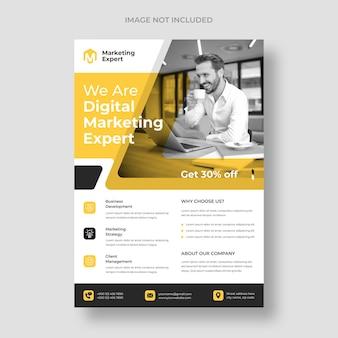 Modèle de flyer de marketing numérique moderne