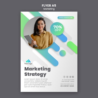 Modèle de flyer de marketing numérique