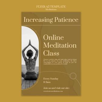 Modèle de flyer de méditation en ligne