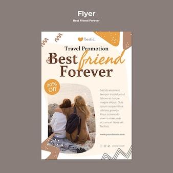 Modèle de flyer de meilleurs amis pour toujours
