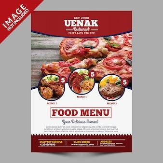 Modèle de flyer de menu alimentaire