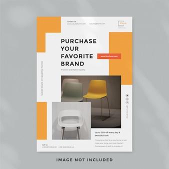 Modèle de flyer de meubles