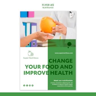 Modèle de flyer nutritionniste avec photo
