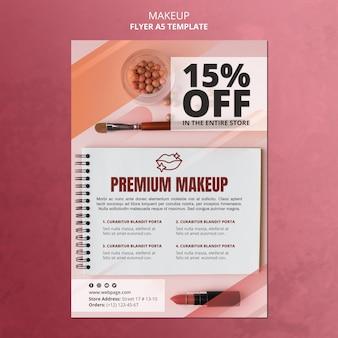 Modèle de flyer offre de maquillage