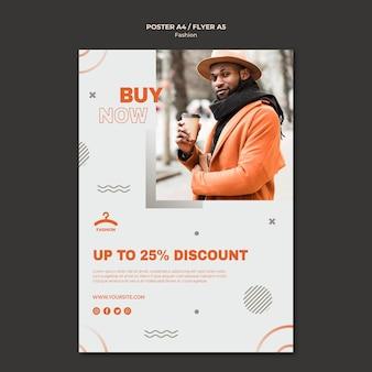 Modèle de flyer offre de réduction de mode