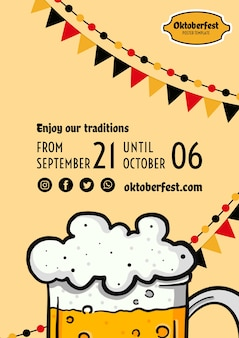 Modèle de flyer oktoberfest