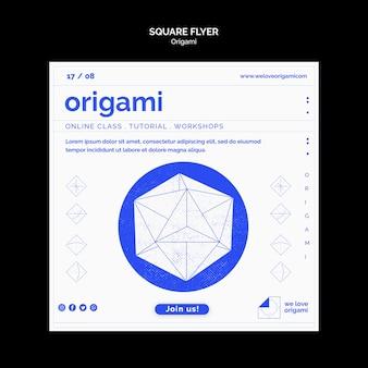 Modèle de flyer en origami