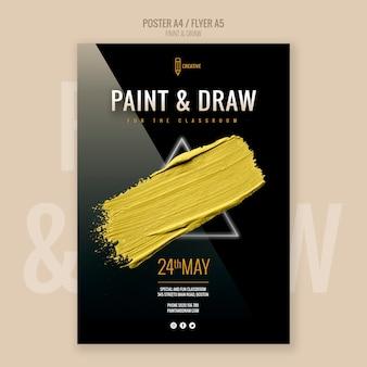 Modèle de flyer de peinture et de dessin