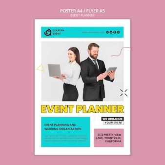 Modèle de flyer de planificateur d'événement