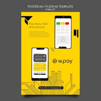 Modèle de flyer de portefeuille électronique
