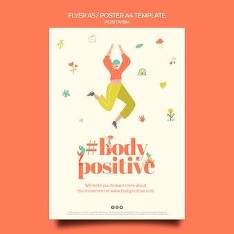Modèle de flyer positif pour le corps