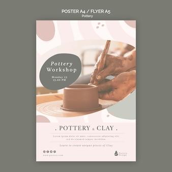 Modèle de flyer de poterie