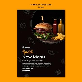 Modèle de flyer pour bistro de hamburgers