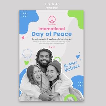 Modèle de flyer pour la célébration de la journée internationale de la paix