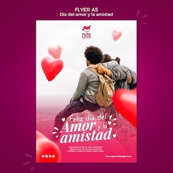 Modèle de flyer pour la célébration de la saint-valentin