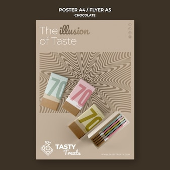 Modèle de flyer pour le chocolat
