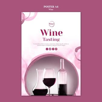 Modèle de flyer pour la dégustation de vin