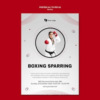 Modèle de flyer pour l'entraînement de boxe