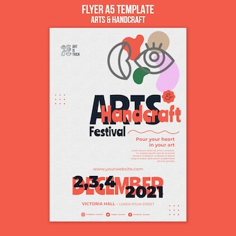 Modèle de flyer pour le festival des arts et métiers