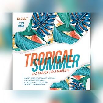 Modèle de flyer pour la fête d'été