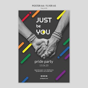 Modèle de flyer pour la fierté gay