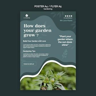Modèle de flyer pour le jardinage
