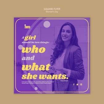 Modèle de flyer pour le jour des femmes