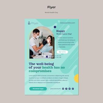 Modèle de flyer pour la journée mondiale de la santé