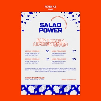 Modèle de flyer pour la puissance de la salade