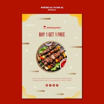 Modèle de flyer pour restaurant barbecue